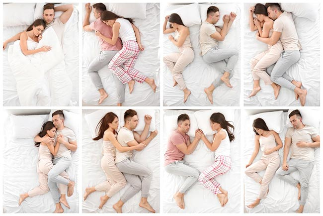 Different sleeping positions